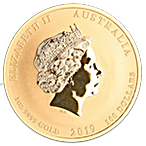 Australian Gold Lunar Series 2019 - Year of the Pig - 1 oz thumbnail