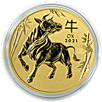 Australian Gold Lunar Series 2021 - Year of the Ox - 1/2 oz thumbnail