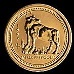 Australian Gold Lunar Series 1997 - Year of the Ox - 1/4 oz thumbnail