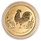 Australian Gold Lunar Series 2017 - Year of the Rooster - 1 oz thumbnail