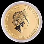 Australian Gold Lunar Series 2018 - Year of the Dog - 1/2 oz thumbnail