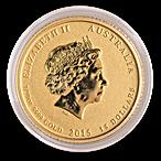 Australian Gold Lunar Series 2015 - Year of the Goat - 1/10 oz thumbnail