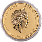 Australian Gold Lunar Series 2016 - Year of the Monkey - 2 oz thumbnail
