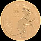 Australian Gold Lunar Series 2020 - Year of the Mouse - 1/10 oz thumbnail