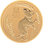 Australian Gold Lunar Series 2020 - Year of the Mouse - 1/2 oz thumbnail