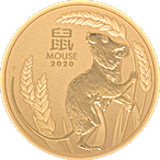 Australian Gold Lunar Series 2020 - Year of the Mouse - 1 oz thumbnail