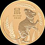Australian Gold Lunar Series 2020 - Year of the Mouse - 2 oz thumbnail