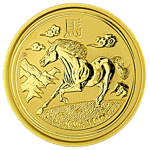 Australian Gold Lunar Series 2014 - Year of the Horse - 2 oz