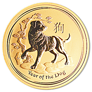Australian Gold Lunar Series 2018 - Year of the Dog - 1 oz