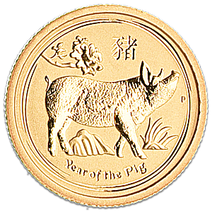 Australian Gold Lunar Series 2019 - Year of the Pig - 1/20 oz