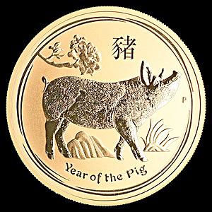 Australian Gold Lunar Series 2019 - Year of the Pig - 1 oz