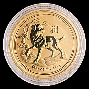 Australian Gold Lunar Series 2018 - Year of the Dog - 1/4 oz