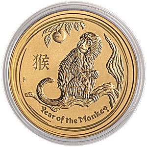 Australian Gold Lunar Series 2016 - Year of the Monkey - 2 oz