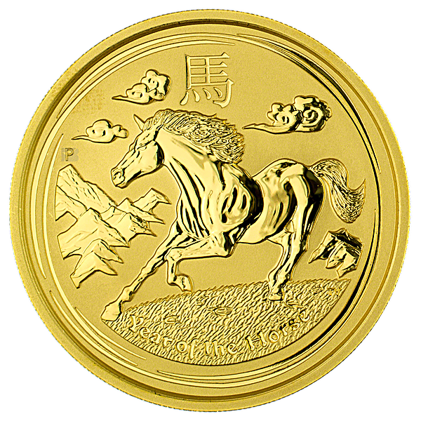 Australian Gold Lunar Series 2014 - Year of the Horse - 1 oz