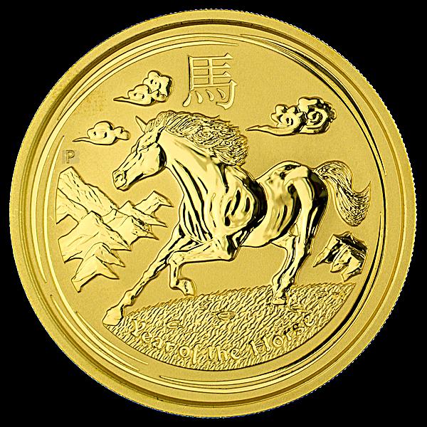Australian Gold Lunar Series 2014 - Year of the Horse - 2 oz