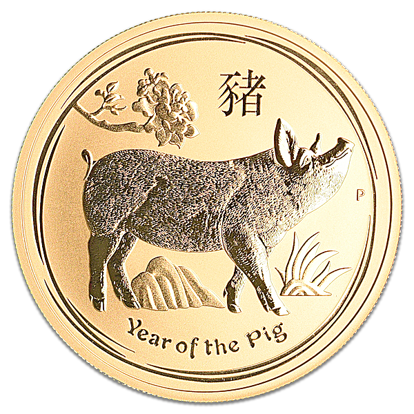 Australian Gold Lunar Series 2019 - Year of the Pig - 1 oz
