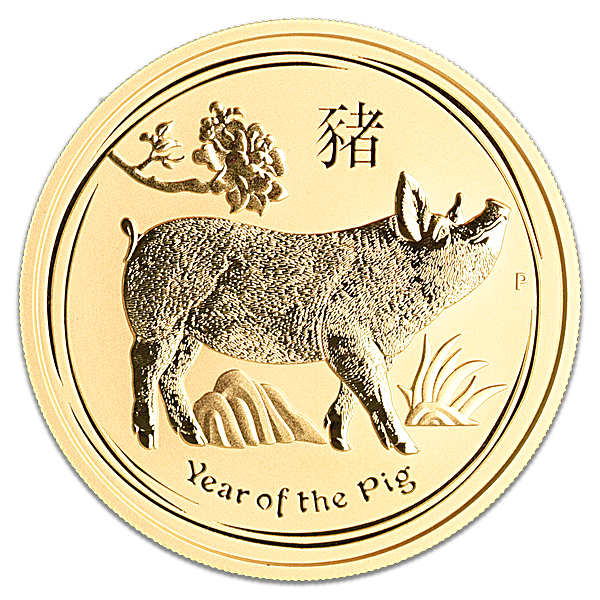 Australian Gold Lunar Series 2019 - Year of the Pig - 2 oz