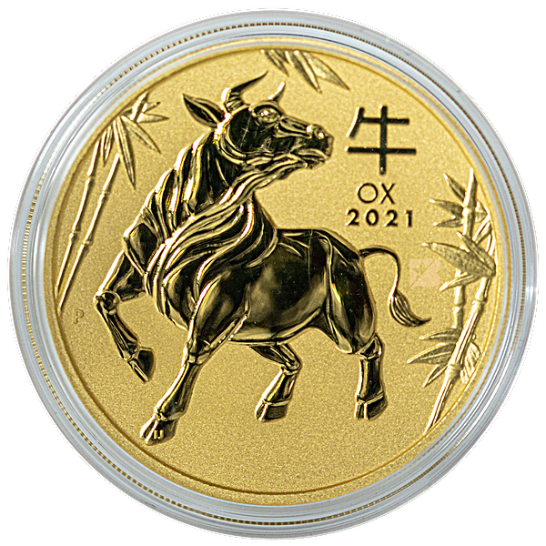 Australian Gold Lunar Series 2021 - Year of the Ox - 1/10 oz