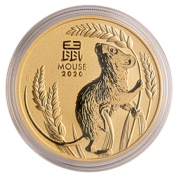 Australian Gold Lunar Series 2020 - Year of the Mouse - 2 oz