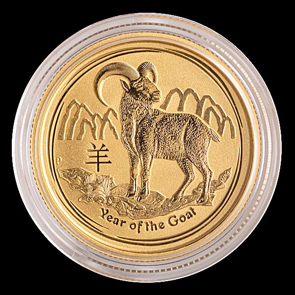 Australian Gold Lunar Series 2015 - Year of the Goat - 1/4 oz