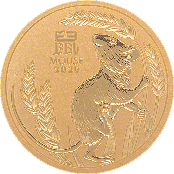 Australian Gold Lunar Series 2020 - Year of the Mouse - 1/2 oz