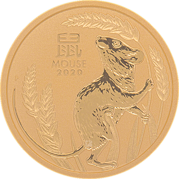 Australian Gold Lunar Series 2020 - Year of the Mouse - 1/4 oz