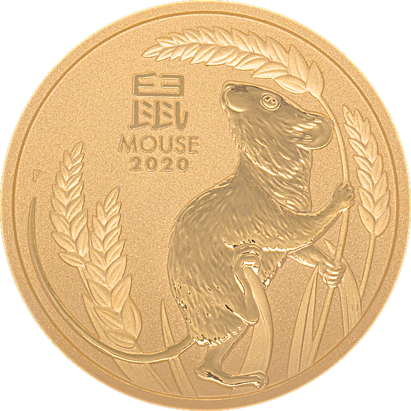 Australian Gold Lunar Series 2020 - Year of the Mouse - 1 oz