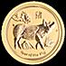 Australian Gold Lunar Series 2019 - Year of the Pig - 1/10 oz thumbnail