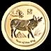 Australian Gold Lunar Series 2019 - Year of the Pig - 1/2 oz thumbnail