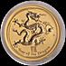 Australian Gold Lunar Series 2012 - Year of the Dragon - 1/2 oz thumbnail