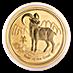 Australian Gold Lunar Series 2015 - Year of the Goat - 1 oz thumbnail