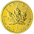 Canadian Gold Maple 2014 - 1/10 oz thumbnail