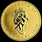 Canadian Gold Maple 1990 - 1 oz thumbnail