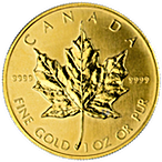 Canadian Gold Maple 1990 - 1 oz thumbnail