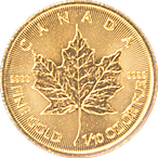 Canadian Gold Maple 2020 - 1/10 oz thumbnail