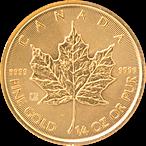 Canadian Gold Maple 2020 - 1/4 oz thumbnail