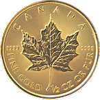 Canadian Gold Maple - Various years - 1/2 oz thumbnail