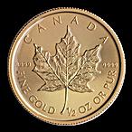 Canadian Gold Maple 2015 - 1/2 oz thumbnail