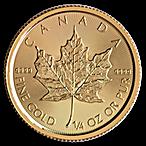 Canadian Gold Maple 2017 - 1/4 oz thumbnail