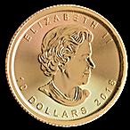 Canadian Gold Maple 2018 - 1/4 oz thumbnail