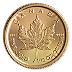 Canadian Gold Maple 2021 - 1/10 oz thumbnail