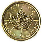 Canadian Gold Maple - Various years - 1/4 oz thumbnail