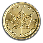 Canadian Gold Maple 2019 - 1/10 oz thumbnail
