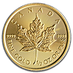 Canadian Gold Maple 2019 - 1/2 oz thumbnail
