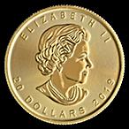 Canadian Gold Maple 2019 - 1/2 oz thumbnail
