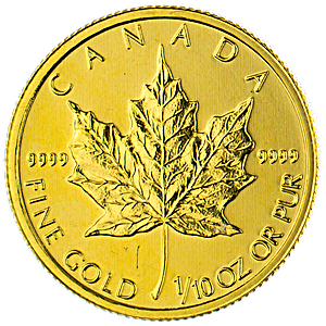 Canadian Gold Maple 2014 - 1/10 oz