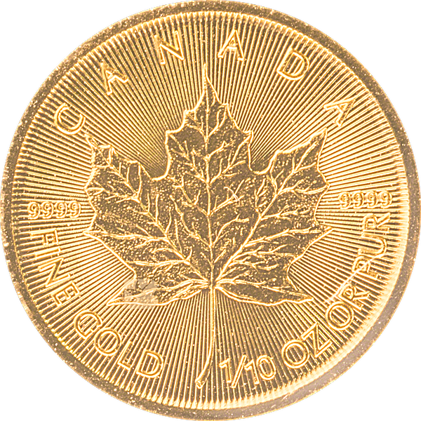 Canadian Gold Maple 2020 - 1/10 oz