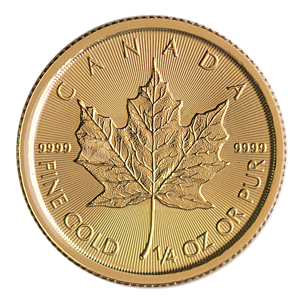 Canadian Gold Maple 2021 - 1/4 oz