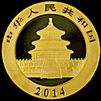 Chinese Gold Panda 2014 - 1 oz thumbnail