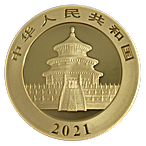 Chinese Gold Panda 2021 - 30 g thumbnail